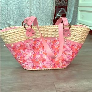 Handbags - Pink beach bag! Perfect condition